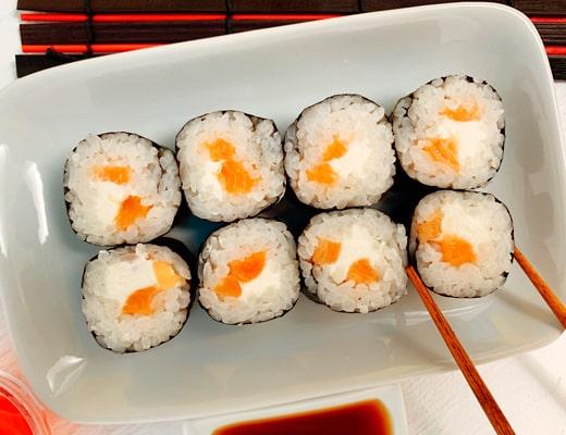 товар ролл сливочный лосось